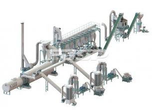 5-7 tonn produksjonslinje for pelletiseri