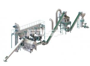 4-6 tonn produksjonslinje for slam og sag