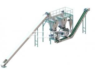 1,5-2,5t/t biomasse trepellets produksjon