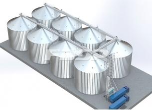 Kornindustri 8-4000T maisstål siloprosje