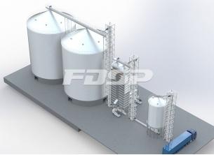 Kornindustri 2-4000T soyabønnestål silo