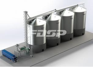 Oljeindustri 4-2000T soyabønnestål silo