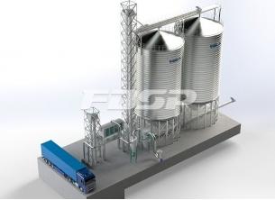 Bryggeriindustri 2-1000T hvetestål silop